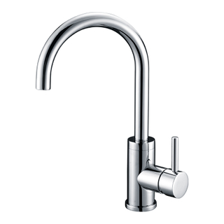 Chrome polished single handle kitchen sink faucets
