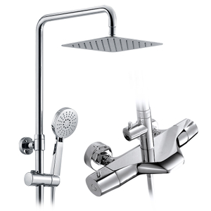 Smart exposed thermostatic shower mixer set