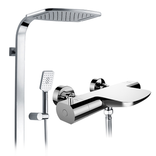 Intelligent Anti Scald Thermostatic Rain Shower Faucet Set