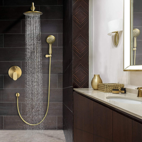Brushed gold finish——combines minimalist and ultimate taste with a blend of tradition and modernity.