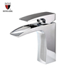 HIMARK contemporary chrome one hole waterfall basin faucet for bathroom sink